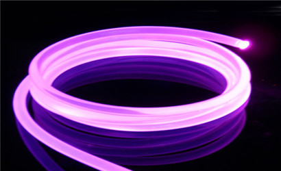Soled side emitting Optical Fiber