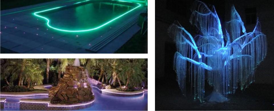 Side Emitting Optical fiber pool