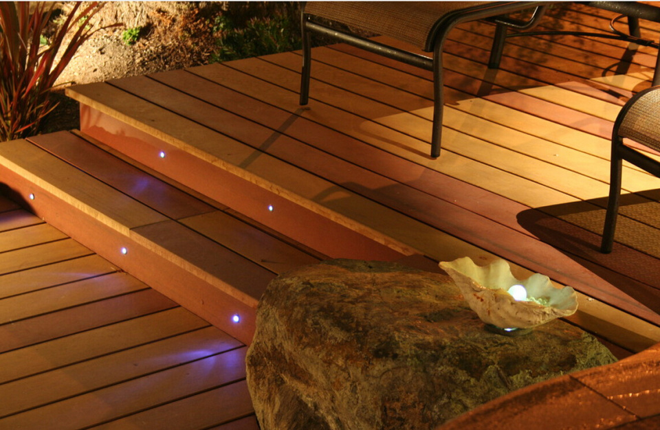 fibre optic lighting in the steps