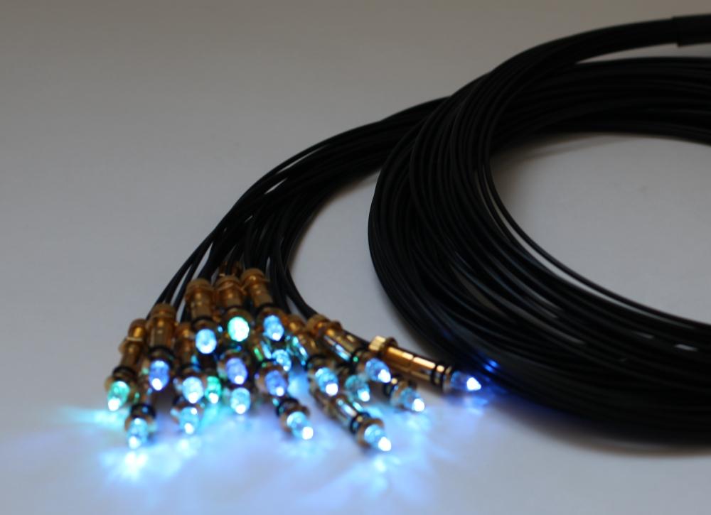 Optical fiber ceiling light kit