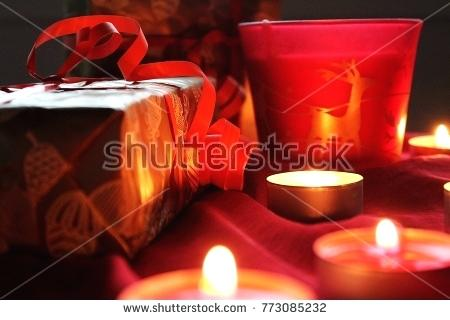 What Time Is Candle Lighting Light Red Color And Present For Or Special