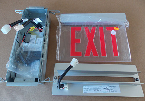 Lithonia Lrp 1 Rc 120 277 El N Pnl Edge Lit Led Exit Sign Red Letter