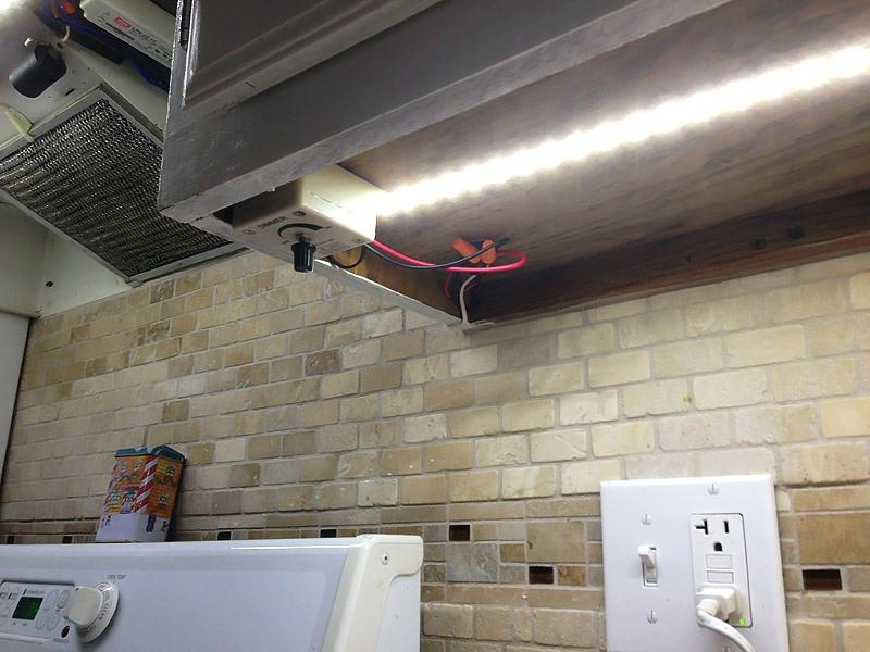 Decoration Led Tape Under Cabinet Lighting No Soldering Picture Of Throughout