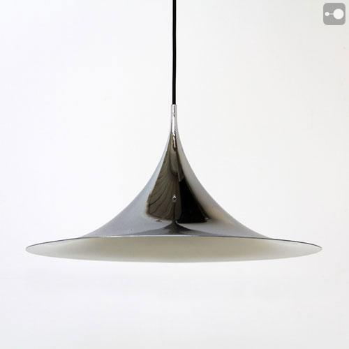 Vintage Danish Lamp 1960 S Fog Morup Chrome Semi Pendant Theory Of Supply For Uk