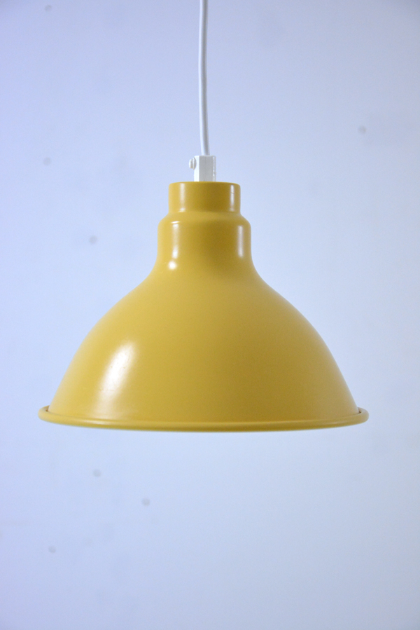 Available In Uk From Danish A Vintage Metal Pendant Light Yellow And White