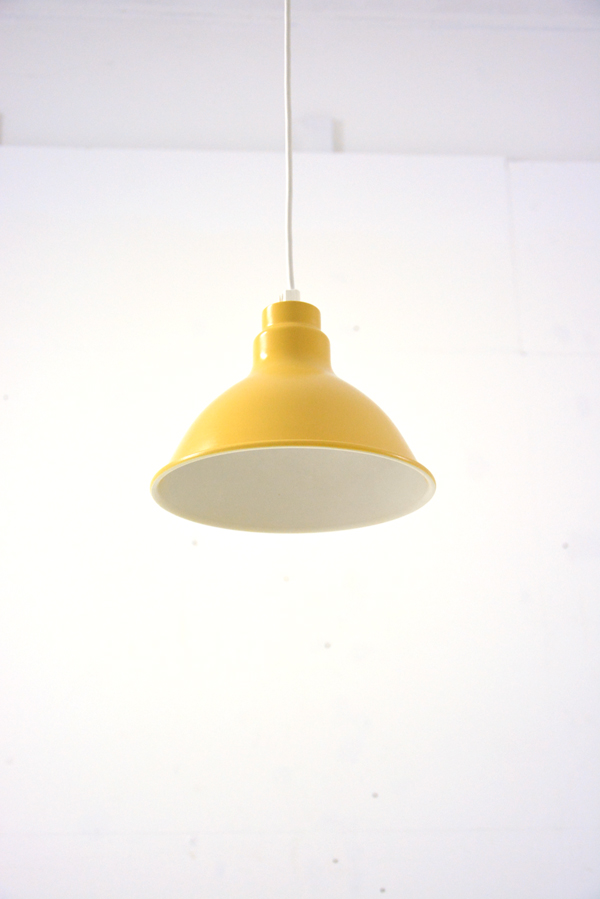 A Vintage Metal Danish Pendant Light In Yellow And White Available Uk From