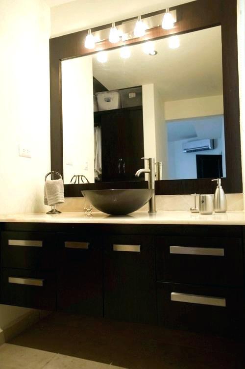 Cool Bathroom Vanity Mirror Lights With Around Awesome Vanities Light