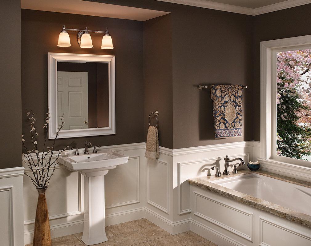 Bathroom Mirror Lights Nickel Ideas