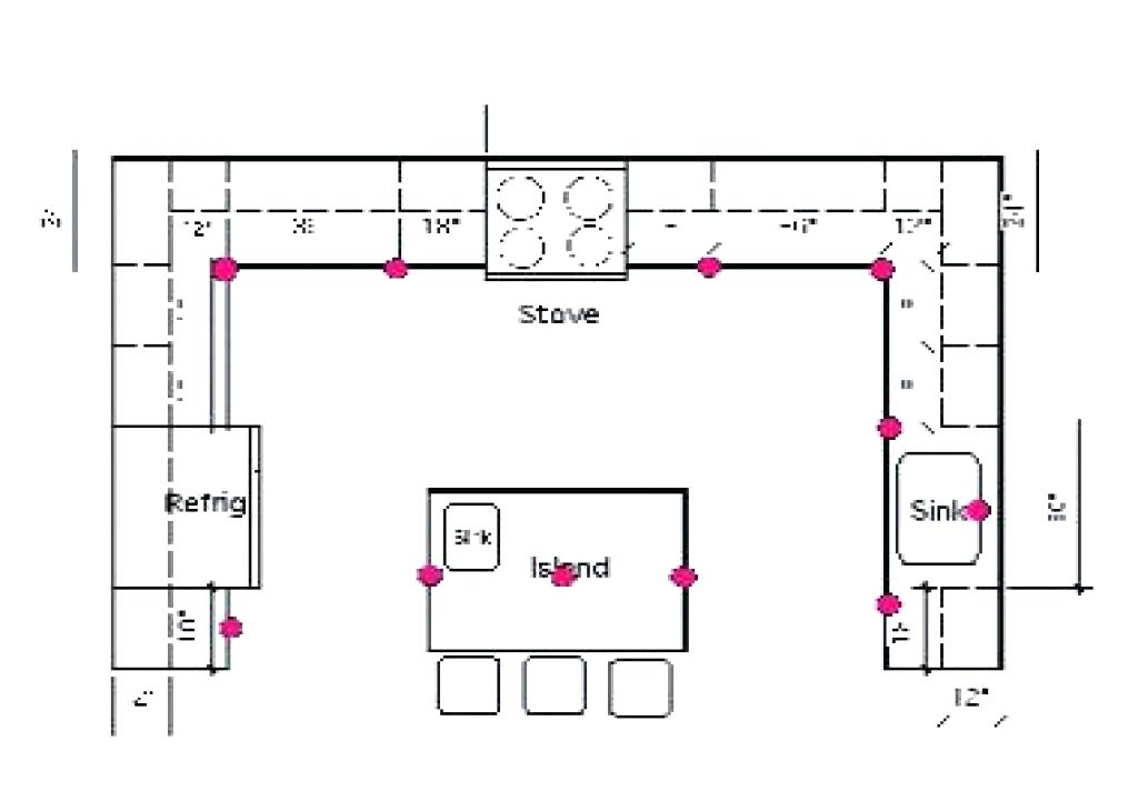 Kitchen Recessed Lighting Layout Design