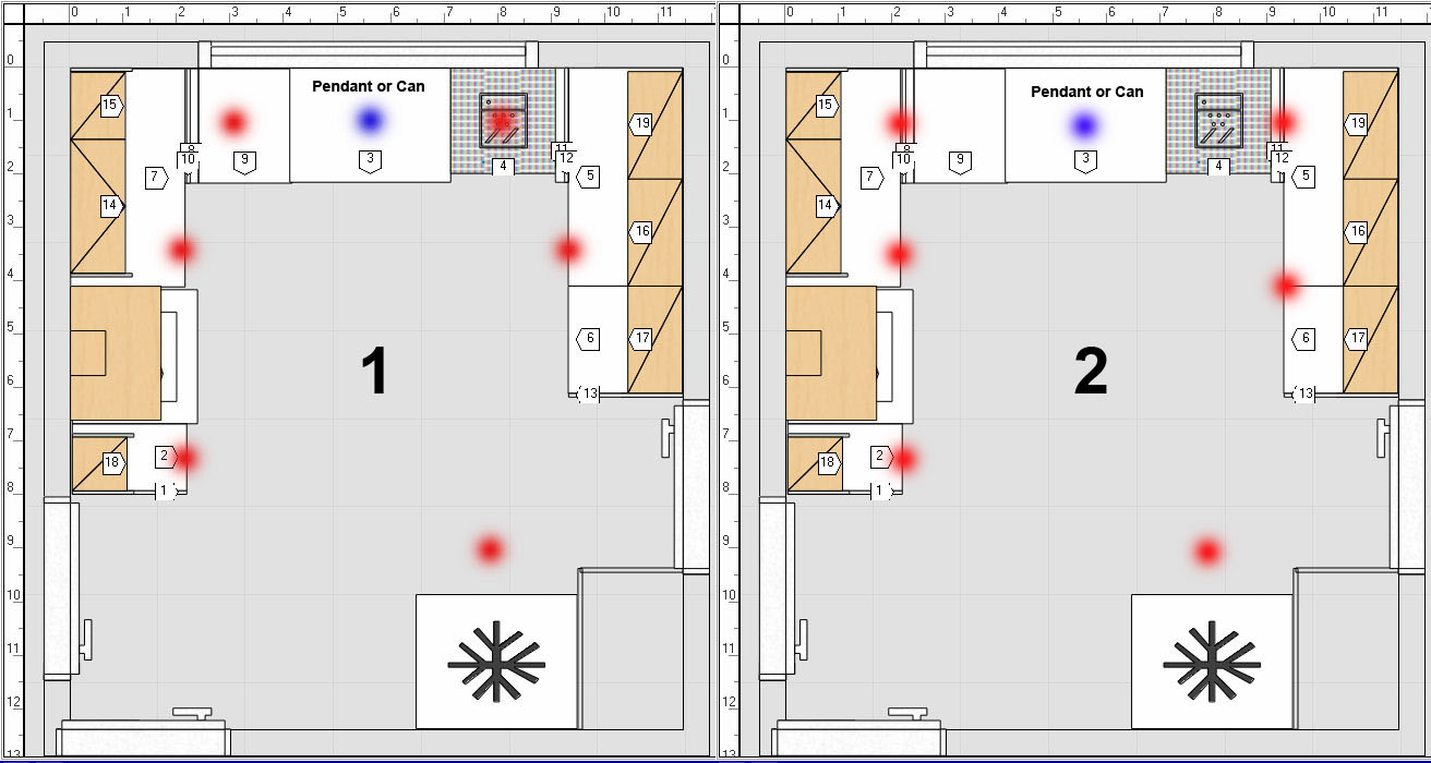 Kitchen Lighting Layout Calculator