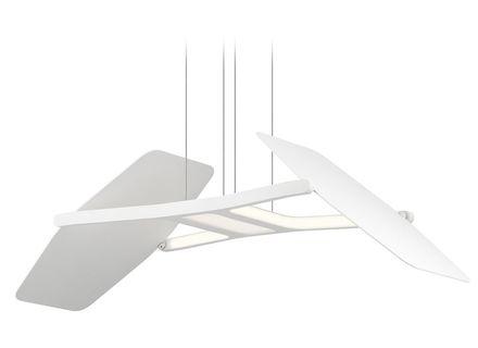 Elan Lighting Wings Matte White Led Pendant Light 83862