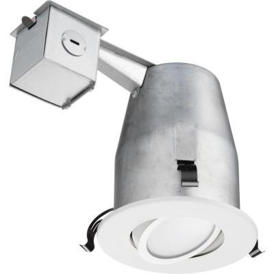 Lithonia Lighting 4 In Recessed White Gimbal Led Downlighting Kit
